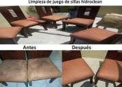 Limpiezas de sillas lavado de alfombras y mas 0991098964 hidroclean
