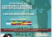 Curso congreso seminario capacitación secretarias ejecutivas asistentes ejecutivas