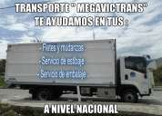 Transvictor da servicio de mudanzas y fletes con precios comodos